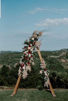 Triangular Arbour with Boho Florals