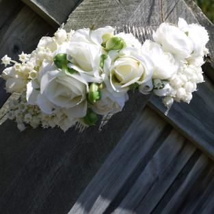 White Bridal Comb