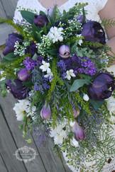 A Teardrop Styled Artificial Bridal Bouquet