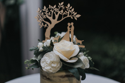 Cake Topper with Florals