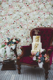 White and Pink Flower Wall Hire
