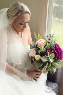 An Artificial Vintage Style Posy Bouquet