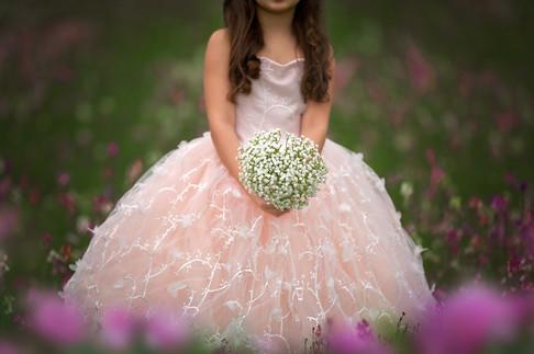 Flower Girls or Junior Bridesmaids Babies Breath Bouquet