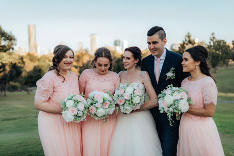 Blush Pink Posy Style Bouquets