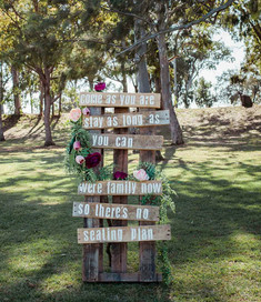 Ceremony or Reception Welcome Pallett Sign