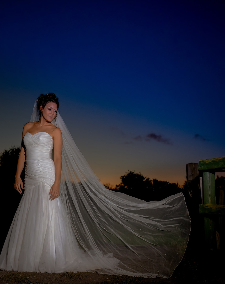 Somerset sunset wedding