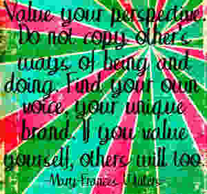Yoga- Asteya Quote- Mary-Frances Winters