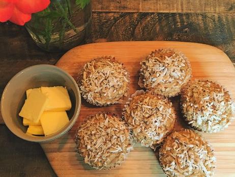 Wellness Wednesday- GF Banana Coconut Chia Muffins