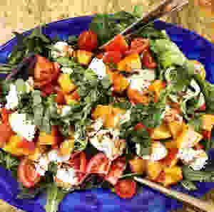 Peach Burratta Salad