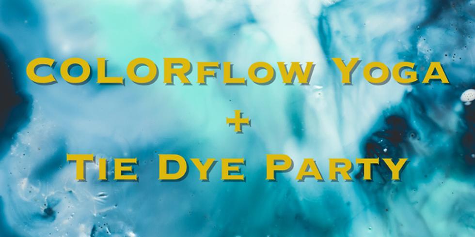 COLORflow Yoga + Tie Dye Party