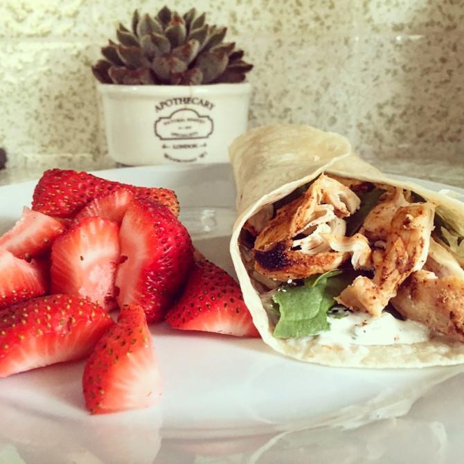 Wellness Wednesday- Chicken Wrap