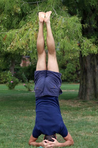 Postures de Hatha Yoga à Annecy : sirsasana Posture sur la tête