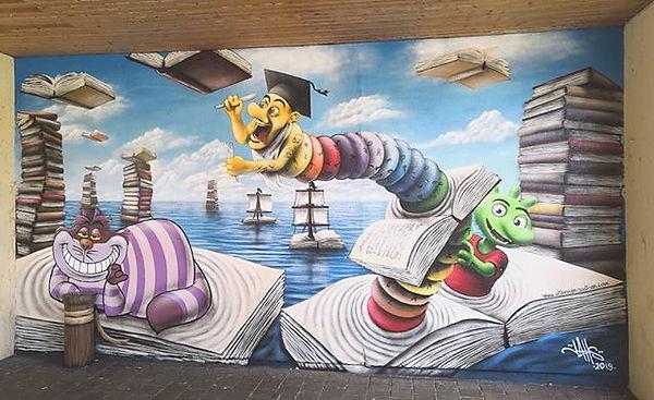 Stadtbücherei Königsbrunn. #graffiti #mu