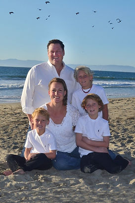 family portrait at the beach and parks
