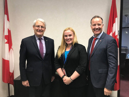 Dr. Kearns Meets with Minister of Transport Marc Garneau in Ottawa