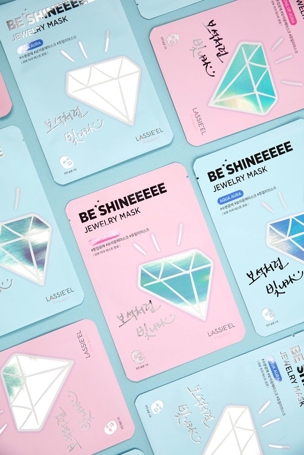 Emptyfull Design 엠티풀디자인 | Lassie'el Be Shine Jewelry Mask 라씨엘르 비 샤인 주얼리 마스크 | BI디자인, 브랜딩디자인, Packaging, 패키징, 패키지디자인 | 디자인외주, 디자인전문회사