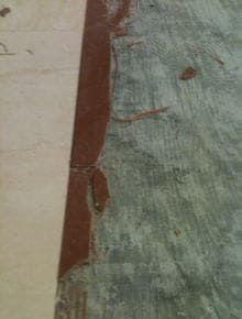 床面細部の施工の様子