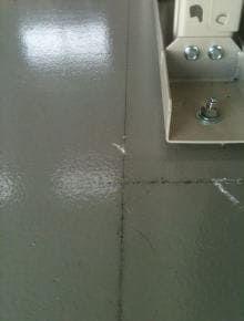 硬質塗り床撤去2 施工前の床面の様子