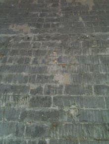 ラバー付パーケット 施工前の床面の様子
