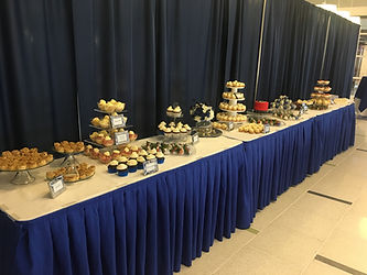 Large coporate dessert table