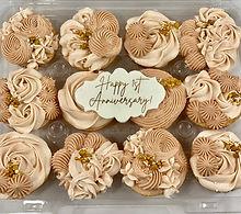 neutral shades cupcakes