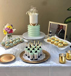 anniversary party dessert table
