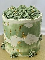 sage buttercream cake