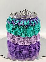 mermaid rosette cake