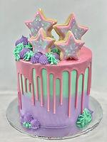 girly galaxy cake