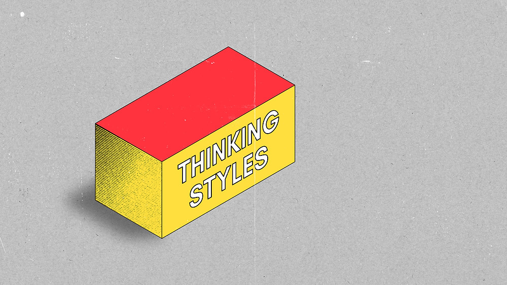 This image represents a skill: being able to notice habitual thinking styles when they come up. These thinking styles may get stronger and more influential when we are anxious or under stress.