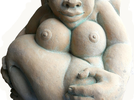 Ama Menec Ceramic Sculptures at               Sculpture In The Garden,               Godinton House,