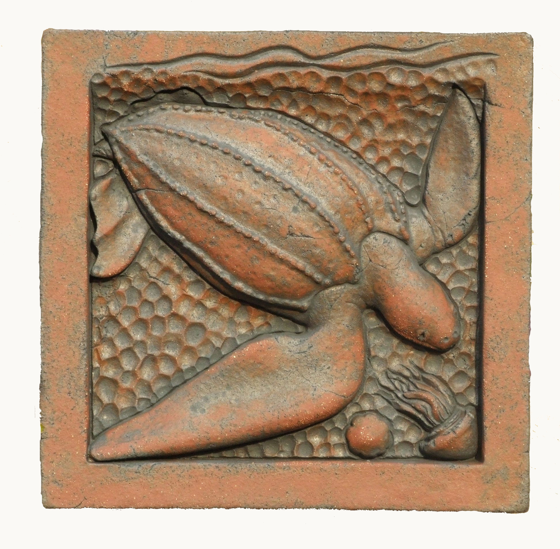 Leatherback Turtle in terracotta