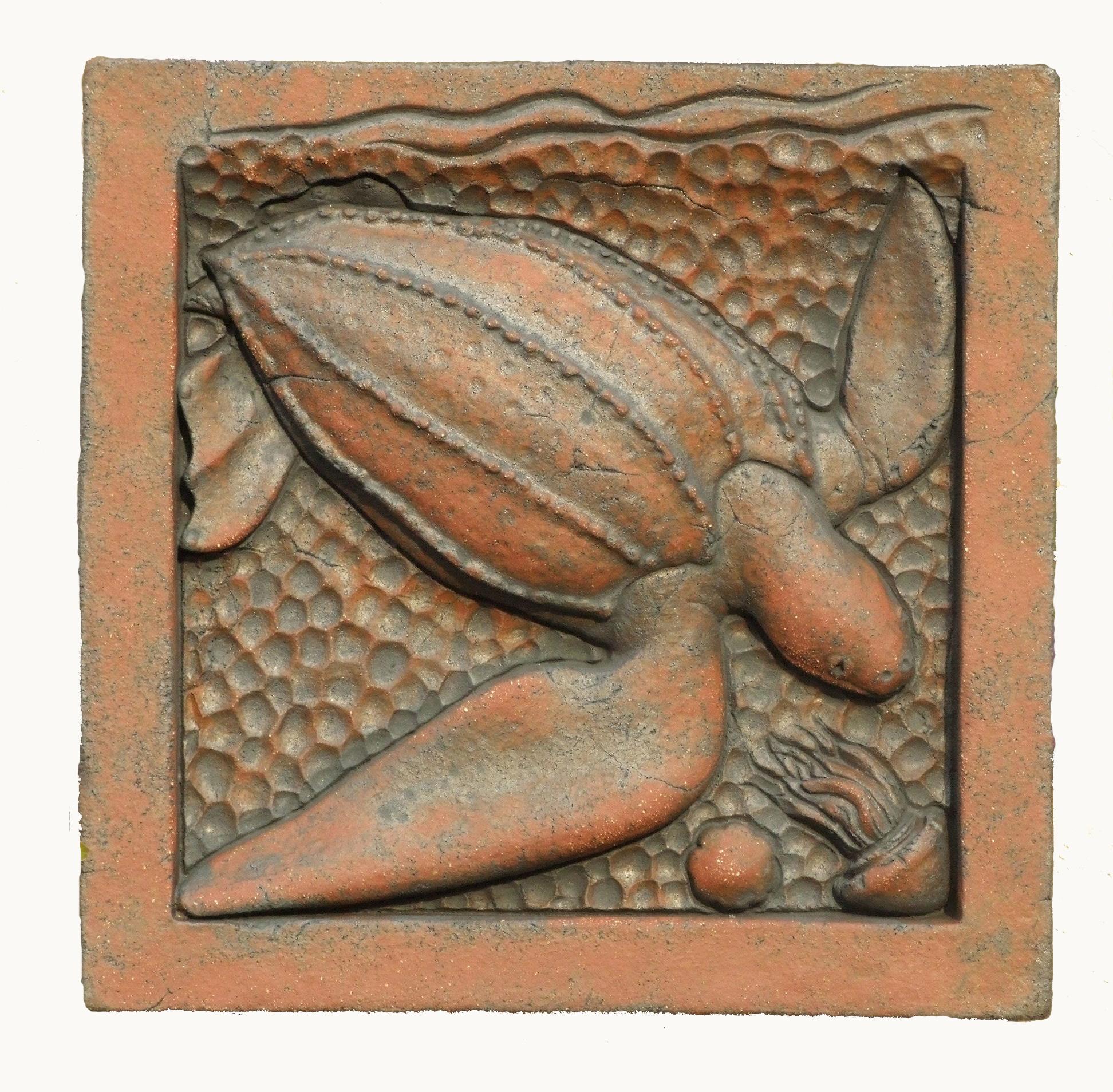 Leatherback Turtle in terracotta
