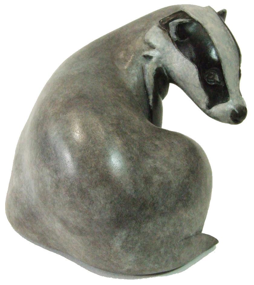 Badger bronze sculpture 'Persecuted' going to the Fresh Air Contemporary Art Fair