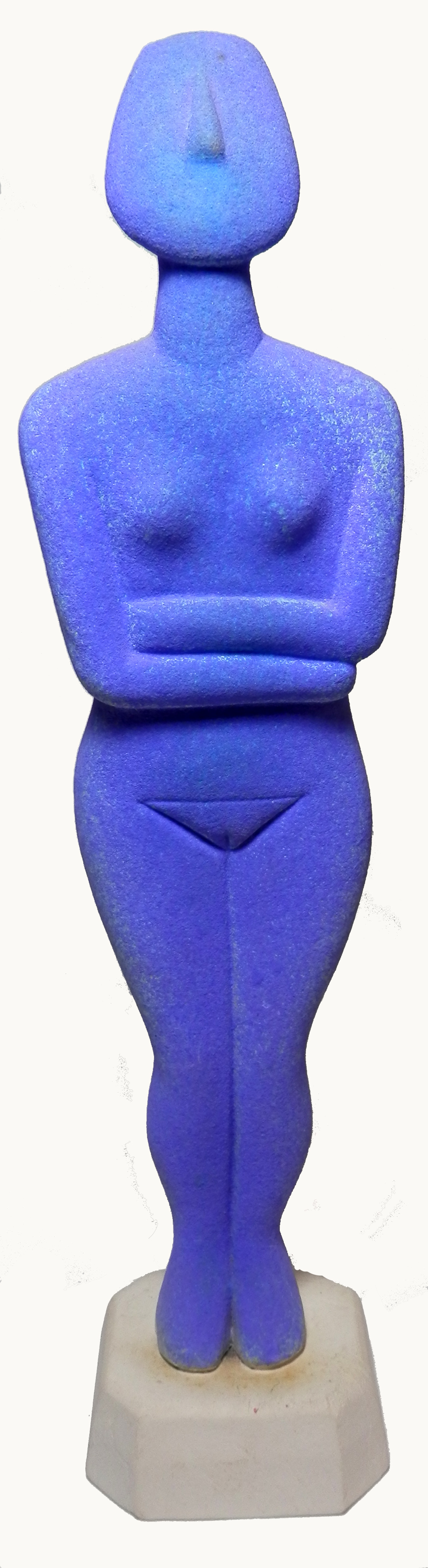 Cycladic Goddess electric blue glaze. jpg