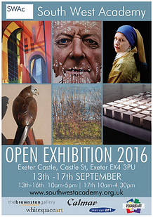 Ama Menec's Female Red Kite on the Poster for the South West Academy Open 2016 which won the Brownston Gallery Award
