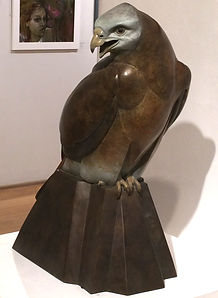 Female Red Kite bronze by Ama Menec at the Society of Women Artists the Mall Galleries, London in 2016
