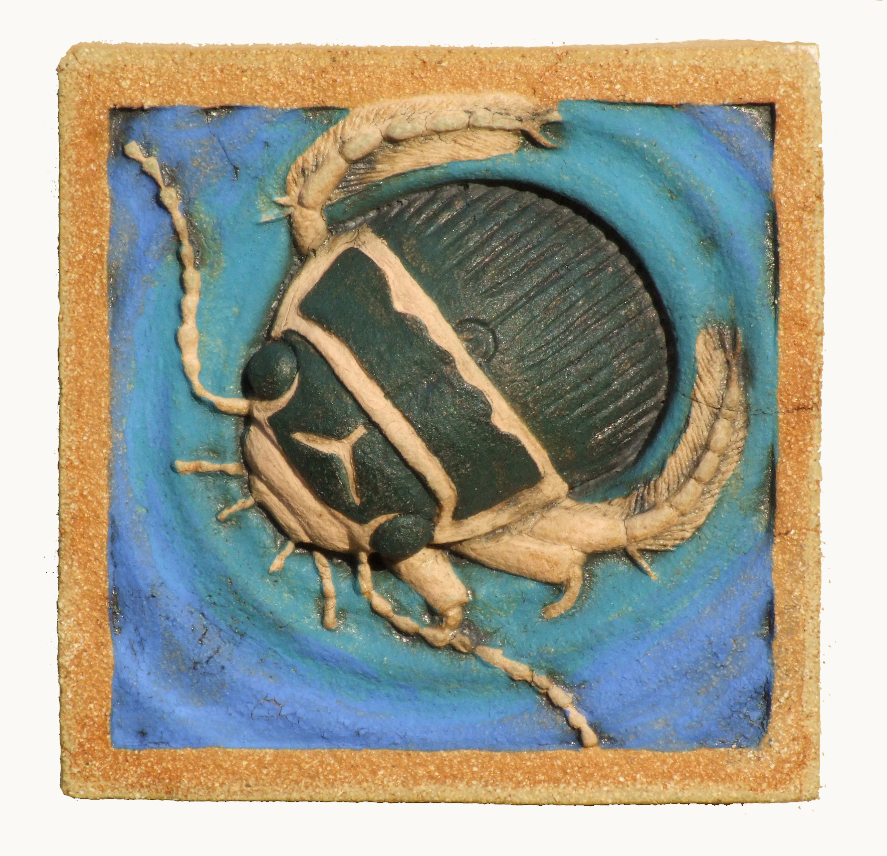 Great Diving Beetle with underglaze and copper jpg