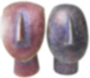 Two styles of Cycladic Heads, based on the Goddesses of the Cycladese