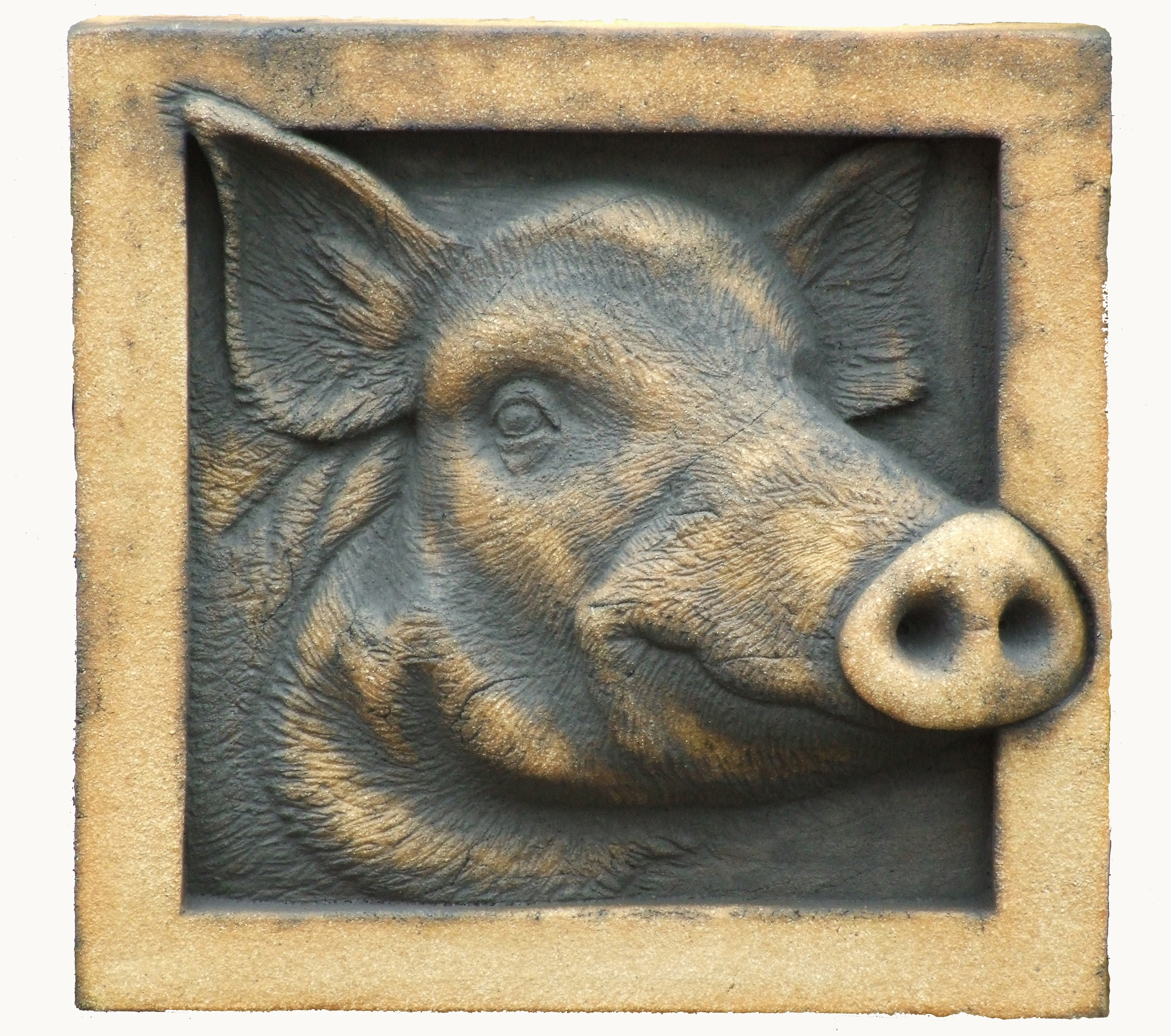 Wild Boar in Craft Crank, Copper and Rutile
