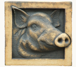 Wild Boar in Craft Crank, Copper and Rutile