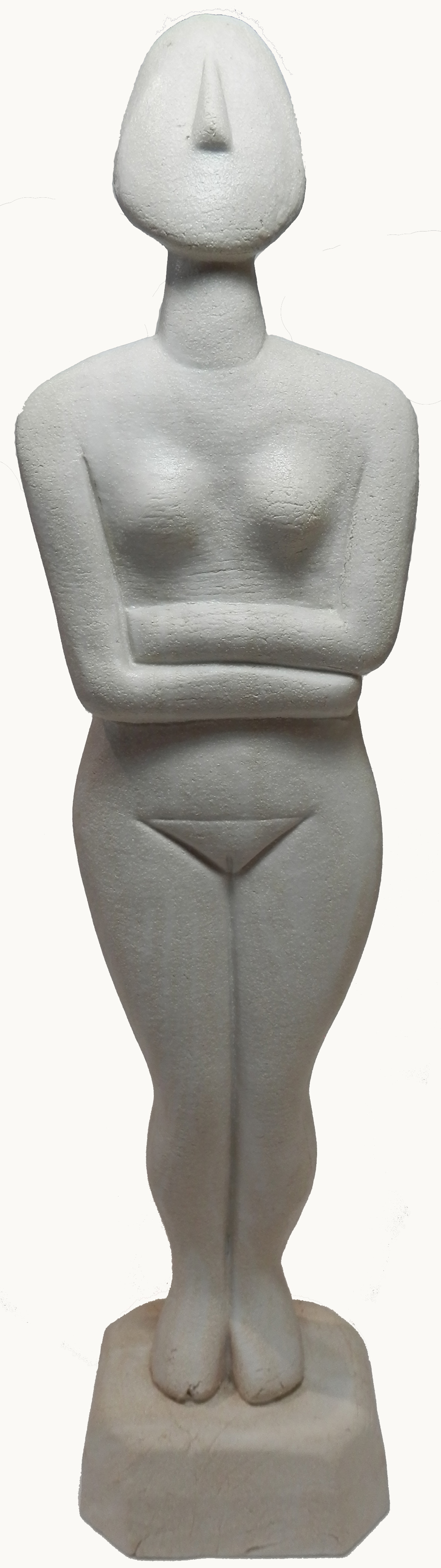 White marbled Cycladic Goddess