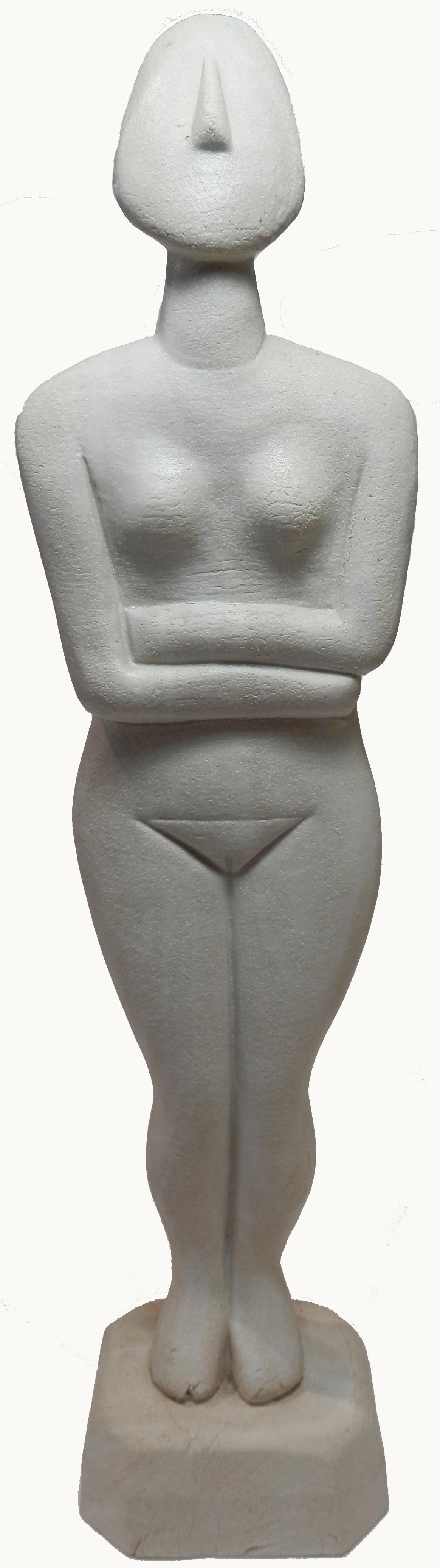 White marbled Cycladic Goddess