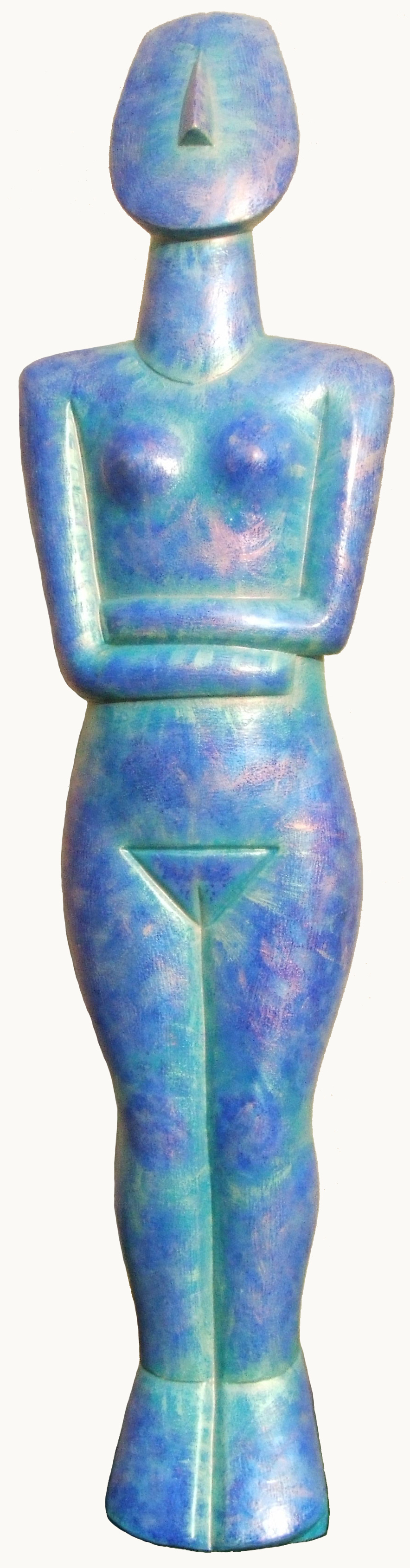 Metalic Cycladic Goddess