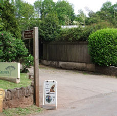The entrance to Coombe Park, just follow our brown tourist signs.