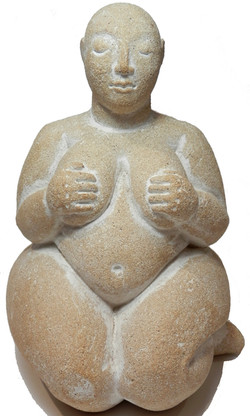 Cream and White Abundant Goddess from Catal Hoyuk
