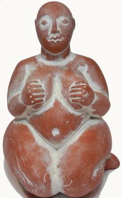 Terracotta and white Abundant Goddess