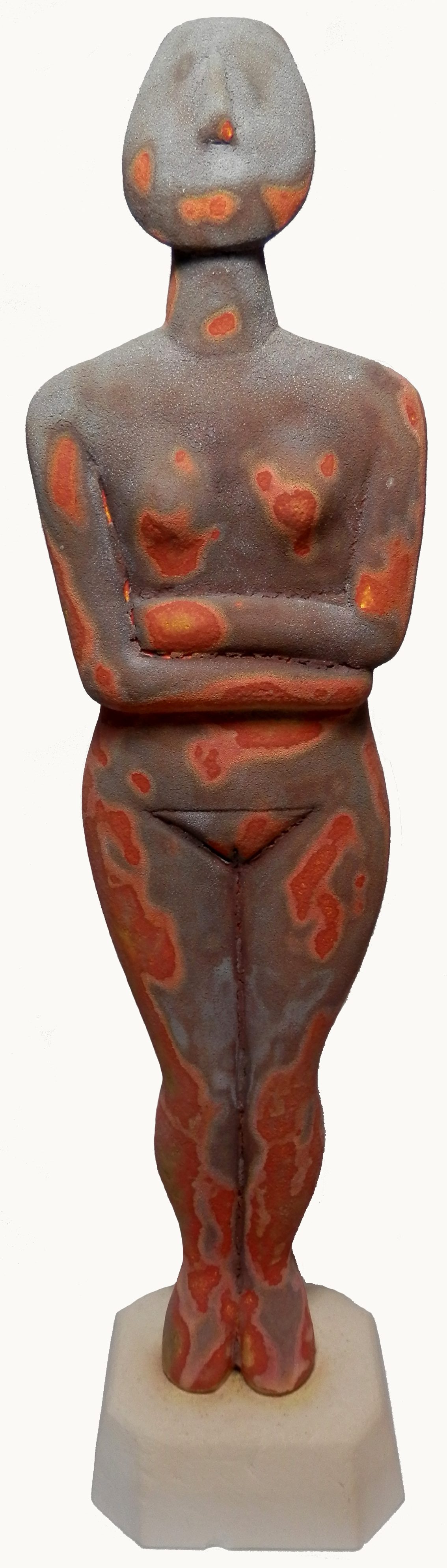 Cycladic Goddess thermal imaging glaze.