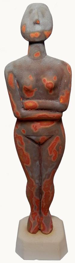 Cycladic Goddess thermal imaging glaze.