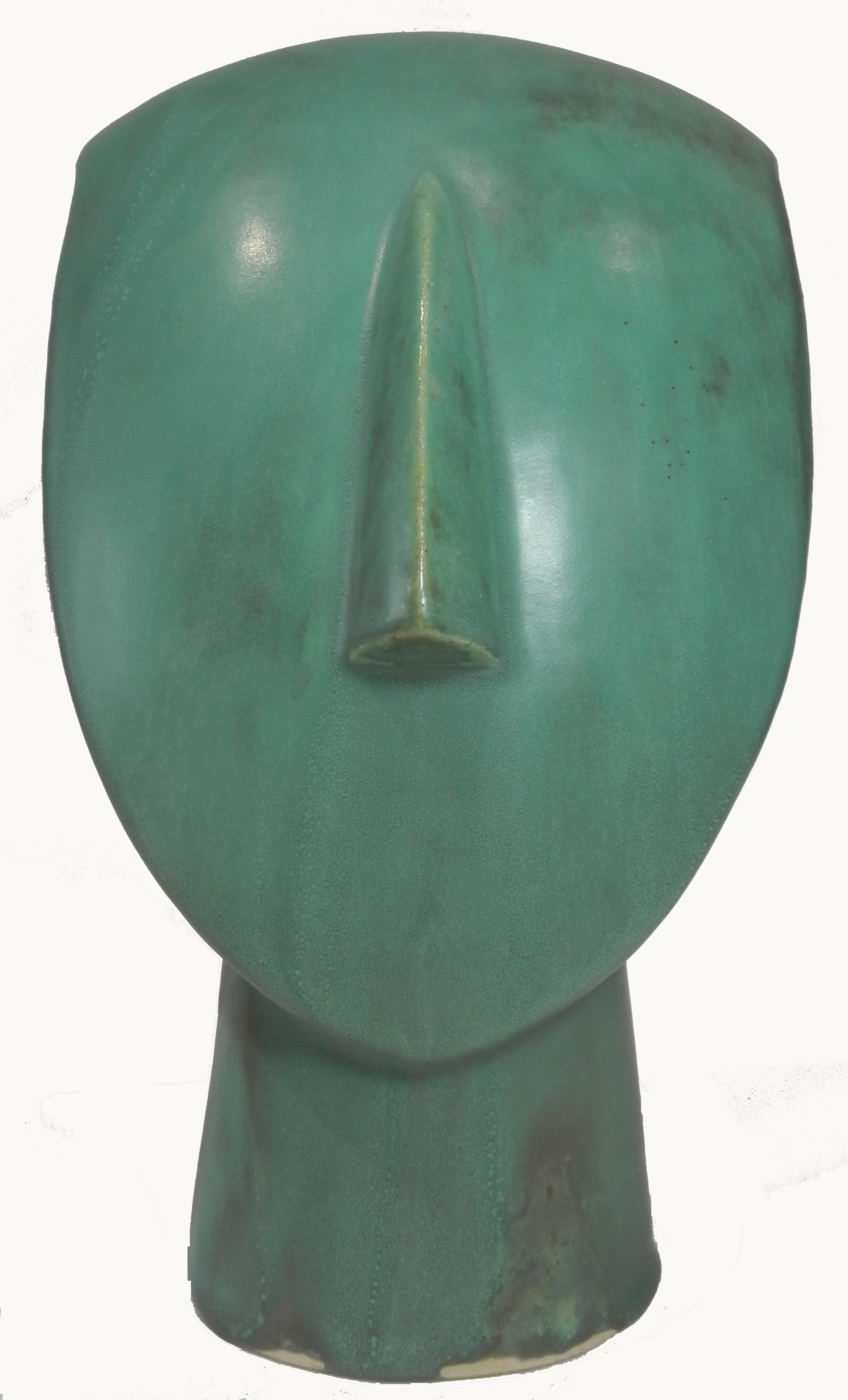 Bronze effect Cycladic head cropped